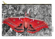 Madam Moth - Red White And Black Carry-all Pouch