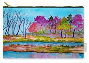 Magenta Woods Carry-all Pouch