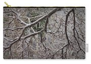Magnolia Tree Branches Covered With Ice No.3834 Carry-all Pouch