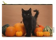 Maine Coon Kitten And Pumpkins Carry-all Pouch