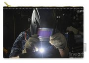 Maintenance Technician Uses A Tig Carry-all Pouch