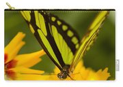Malachite Butterfly On Flower Carry-all Pouch