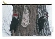 Male And Female Pileated Woodpeckers Carry-all Pouch