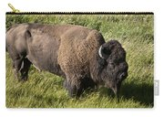 Male Bison Grazing  Carry-all Pouch