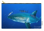 Male Great White Shark And Pilot Fish Carry-all Pouch