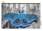 Male Moth Light Blue Carry-all Pouch