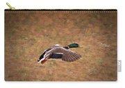 Mallard Duck In Flight Carry-all Pouch