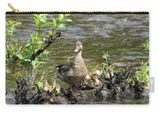 Mallard Duckling Rest  Carry-all Pouch by Neal Eslinger