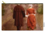 Man And Woman In 18th Century Clothing Walking Carry-all Pouch