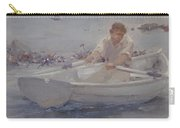 Man In A Rowing Boat Carry-all Pouch