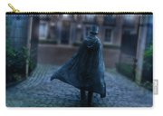 Man In Top Hat And Cape On Cobblestone Street Carry-all Pouch