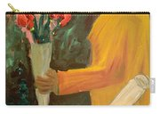 Man With Flowers  Carry-all Pouch
