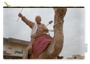 Man With His Camel Carry-all Pouch