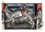 Mandelbrot Meets Mondrian Carry-all Pouch by Ron Bissett