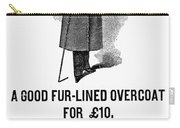Mans Overcoat, 1888 Carry-all Pouch