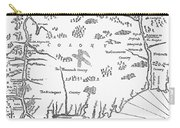 Map: Connecticut, 1661 Carry-all Pouch