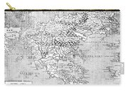 Map Of New France, 1566 Carry-all Pouch