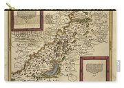 Map Of Palestine, 1588 Carry-all Pouch