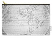 Map Of The New World 1587 Carry-all Pouch