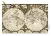 Map Of The World, 1660 Carry-all Pouch