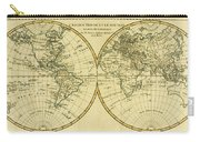 Map Of The World In Two Hemispheres Carry-all Pouch
