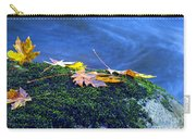 Maple Leaves On Mossy Rock Carry-all Pouch