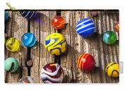Marbles On Wooden Board Carry-all Pouch