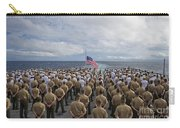 Marines And Sailors Stand In Formation Carry-all Pouch