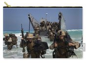 Marines Disembark A Landing Craft Carry-all Pouch