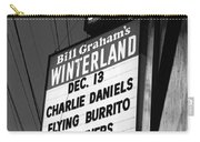 Marquee At Winterland In Late 1975 Carry-all Pouch