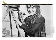 Mary Pickford (1893-1979). Born Gladys Mary Smith. American Actress, With A Movie Camera On A Beach, C1916 Carry-all Pouch