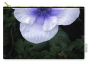 Mascara And Lace Anemone Carry-all Pouch