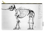Mastodon Skeleton Drawing Carry-all Pouch