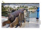 Medieval Cannon At The Balcon De Europa Carry-all Pouch