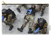 Members Of The Greek Navy Practice Carry-all Pouch