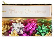 Merry Christmas Message With Colourful Bows Carry-all Pouch