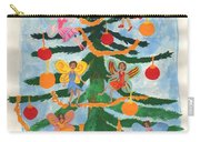 Merry Christmas Tree Fairies In Progress Carry-all Pouch