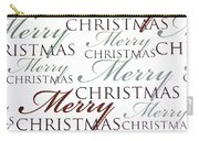 Merry Christmas Words Carry-all Pouch