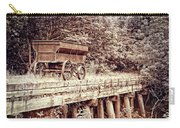 Metal Wagon On The Trestle Carry-all Pouch