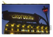 Metro Sign. Paris. France Carry-all Pouch
