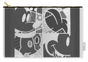 Mickey In Negative Black And White Carry-all Pouch