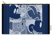 Mickey In Negative Deep  Blue Carry-all Pouch