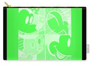 Mickey In Negative Light Green Carry-all Pouch