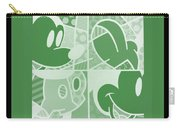 Mickey In Negative Olive Green Carry-all Pouch