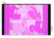 Mickey In Negative Pink Carry-all Pouch