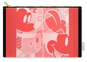 Mickey In Negative Red Carry-all Pouch