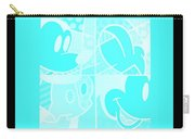 Mickey In Negative Turquois Carry-all Pouch