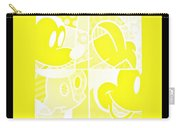Mickey In Negative Yellow Carry-all Pouch
