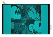 Mickey In Turquois Carry-all Pouch