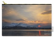 Midnight Sun Over Tjeldsundet Strait Carry-all Pouch
